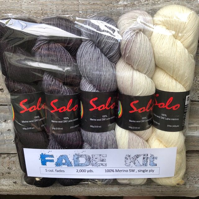 5 Skeins Solo- Fade KIT – B & W