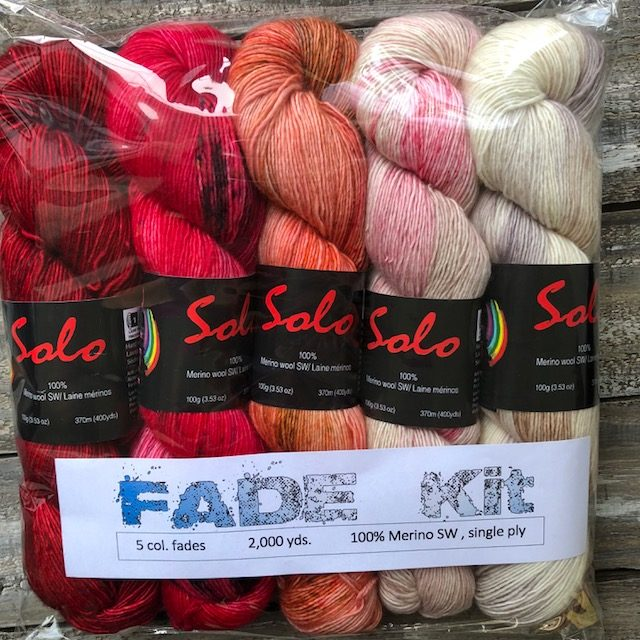5 Skeins Solo- Fade KIT – Red